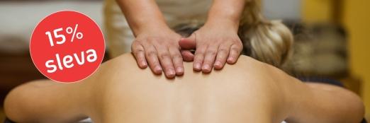 30 masáží s 15% slevou